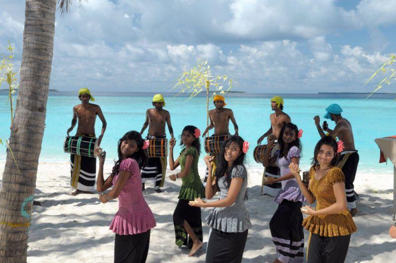 La gente en Maldivas