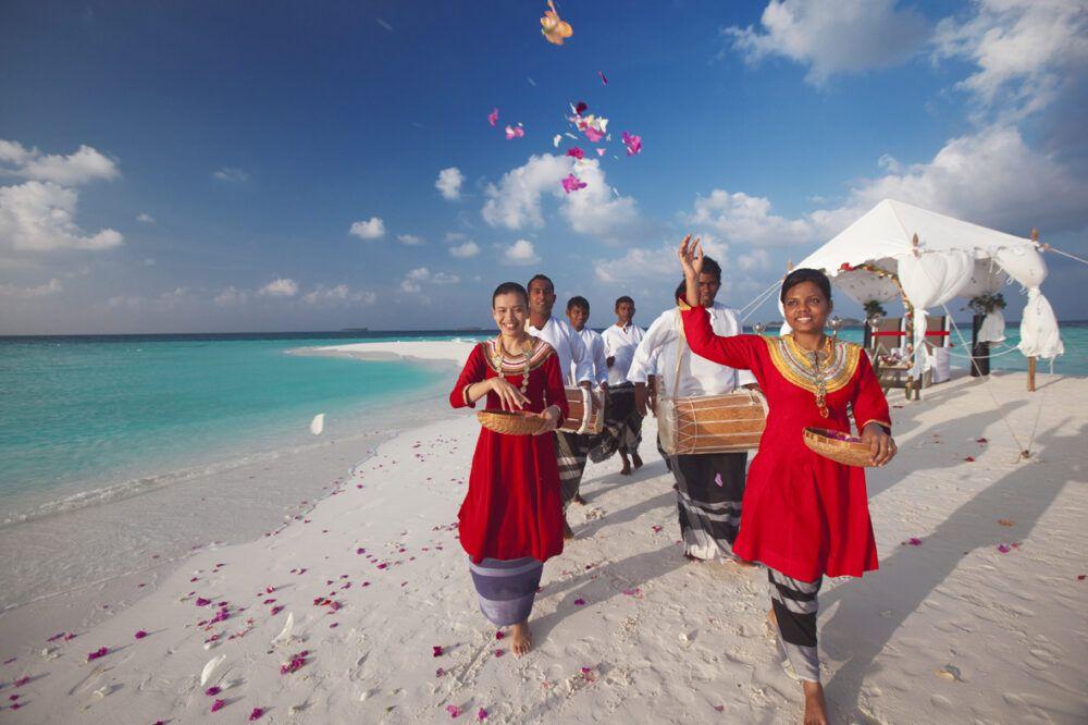 Traje típico Maldivas